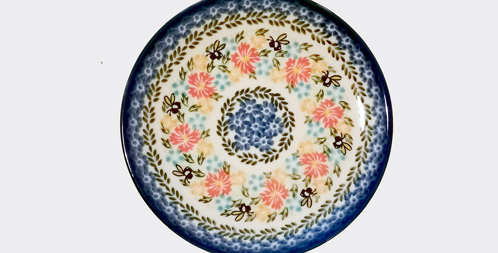 Bumble Bee Children's Plate, Polish Pottery