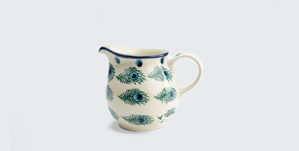 Small Jug 200ml in Peacock Feather
