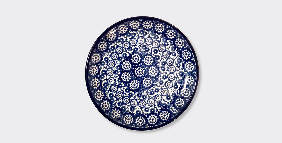 Polish Pottery Side Plate, Made By Hand, Arts and Crafts Interiors