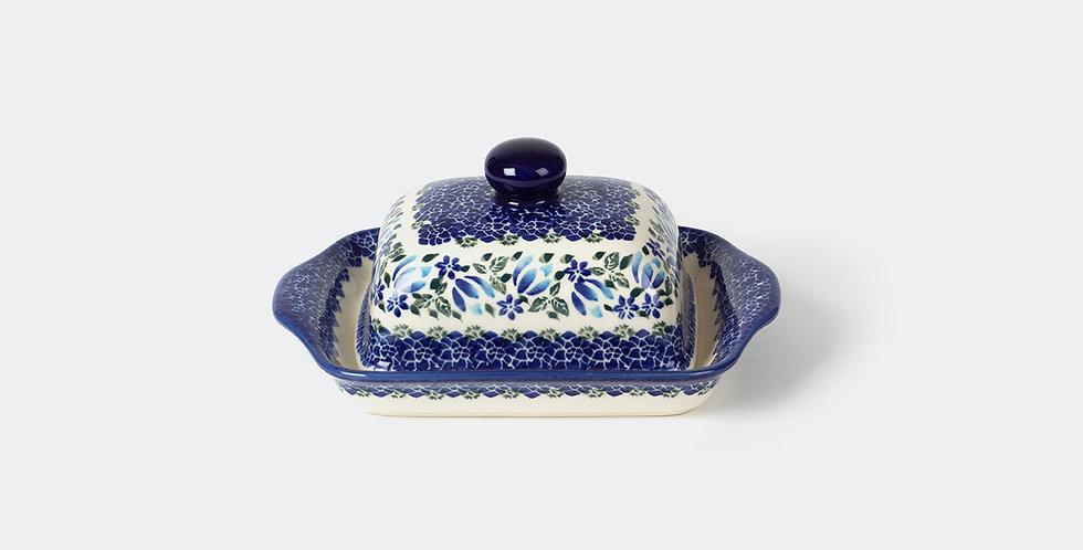 Polish Pottery Unikat Butter Dish by Ceramika Arkadia