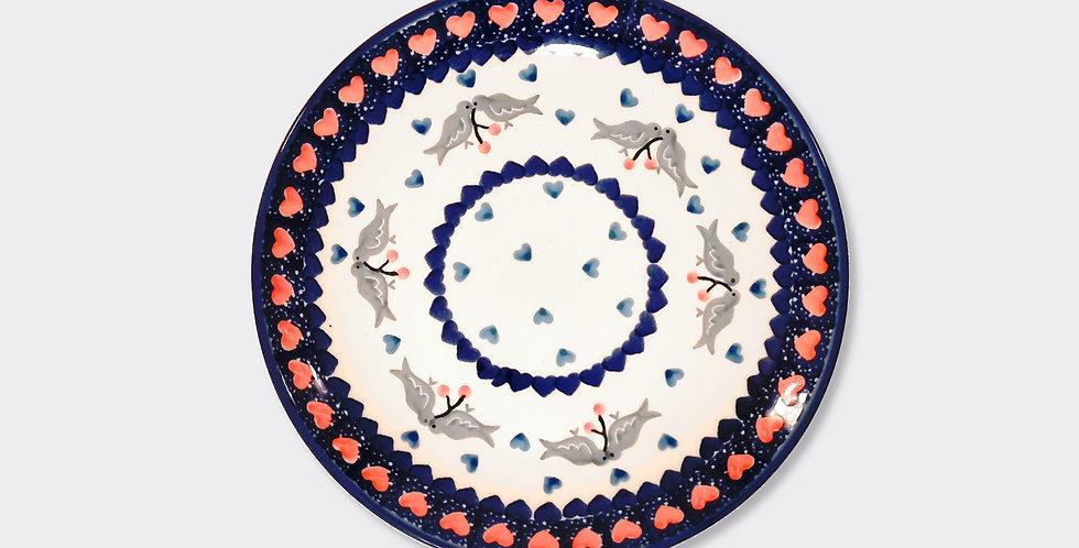 Traditional Folk Design Side Plate, Polish Pottery