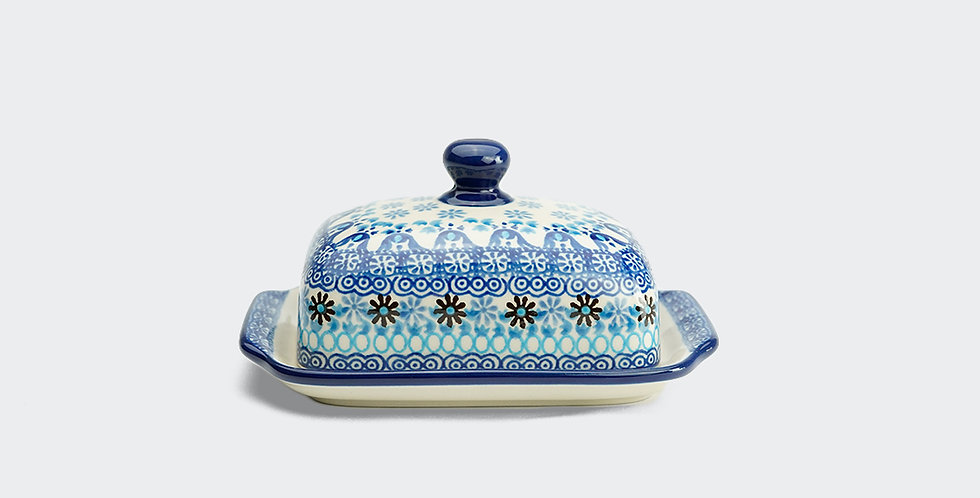 Butter Dish in Marrakesh Blue