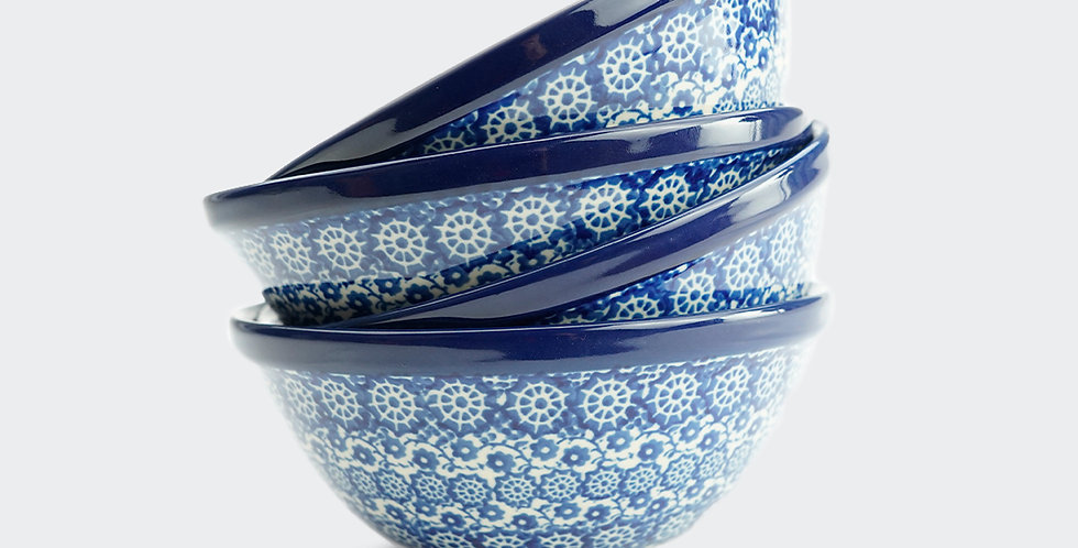 Set of Four Small Cereal Bowl in Lulworth Blue