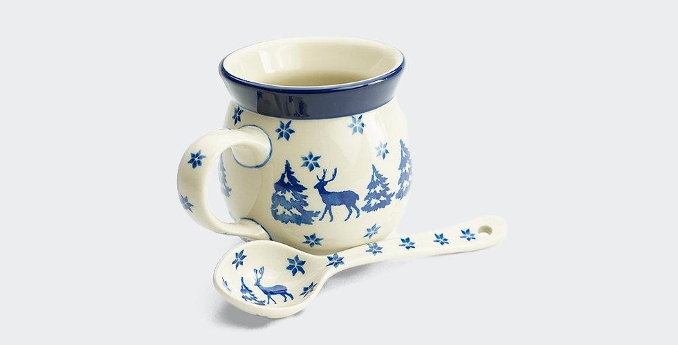Christmas Hot Chocolate Mug and Spoon Set