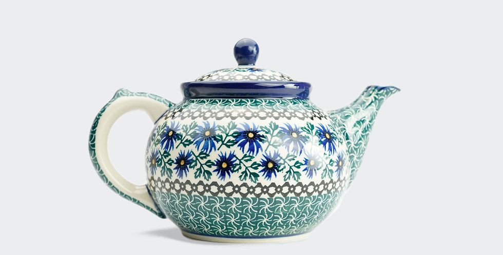 Large Teapot in Cornflower