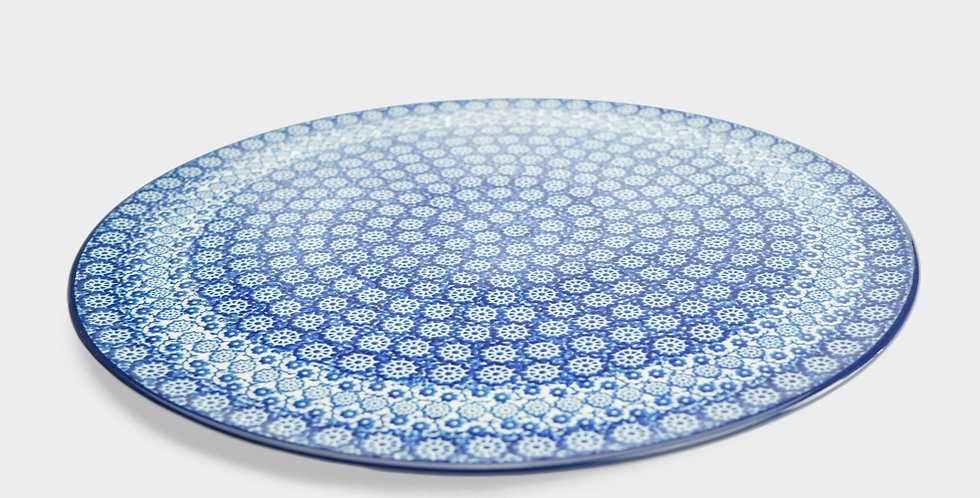 33cm Serving Plate in Lulworth Blue