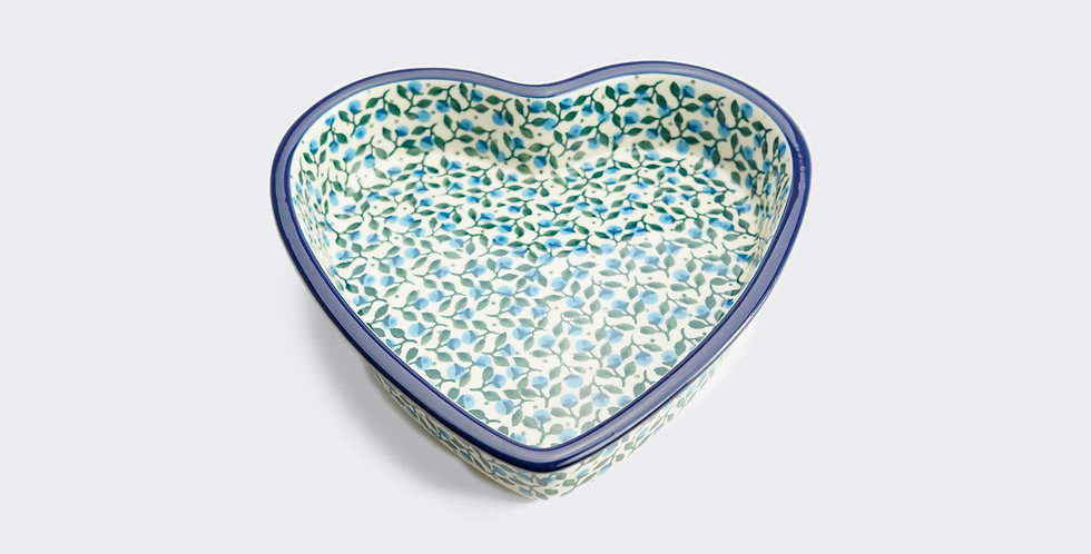 Small Heart Shaped Baking Dish in Sloe Berry