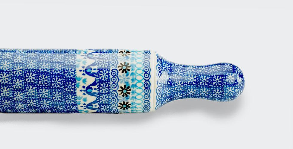 Rolling Pin in Marrakesh Blue