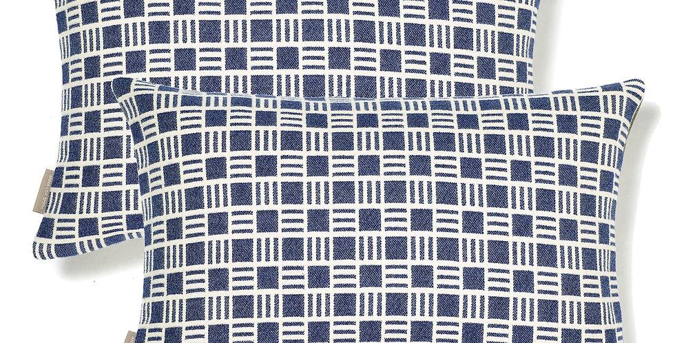 Pair of Alex Cushions in Sea Holly Blue 50x30cm