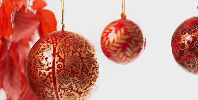 Christmas decorations available for online delivery. Ethically sourced, environmentally responsible and beautiful.