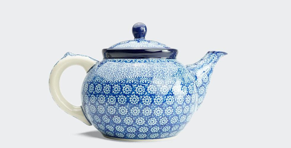 Large Teapot in Blue Trellis