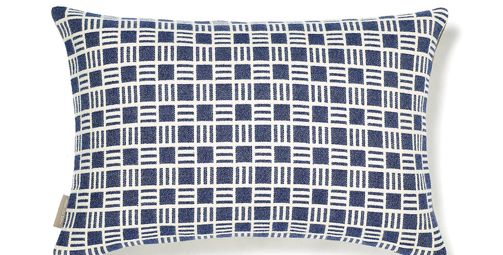 Alex Cushion in Sea Holly Blue 50x30cm