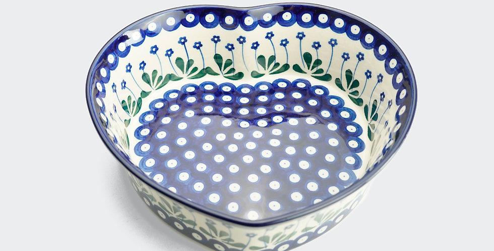 Large Heart Shaped Baking Dish in Daisy