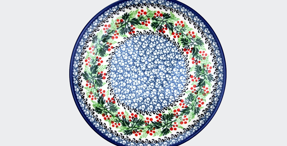 20cm Plate in Christmas Wreath