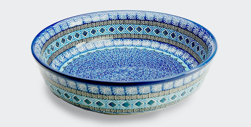 Round Baking Dish in Blue Maroc