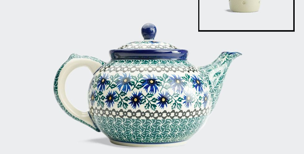 Large Teapot with Filter in Cornflower