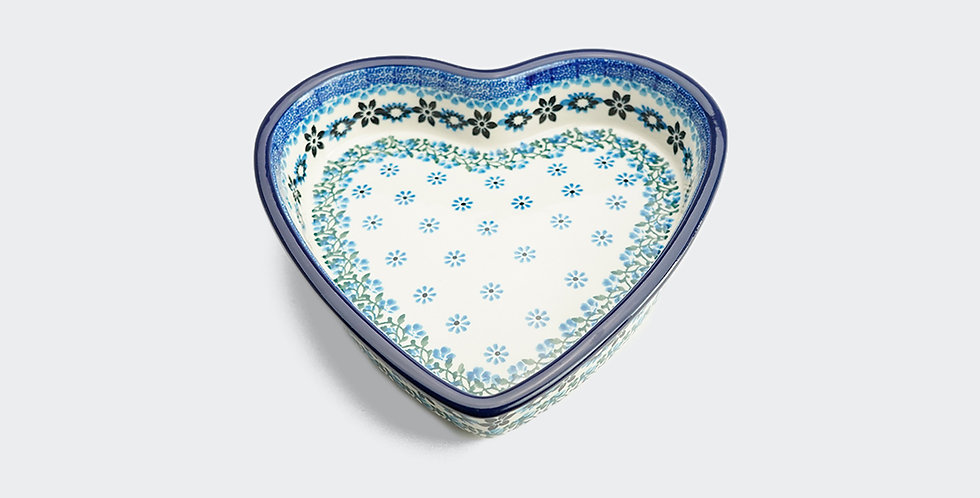 Small Heart Shaped Baking Dish in Sweet Maria