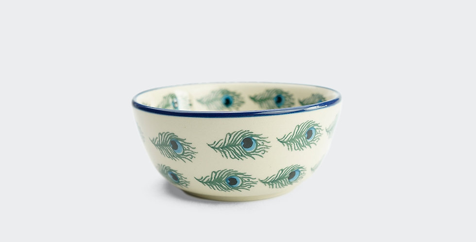 Nibble Bowl 12cm in Peacock Feather