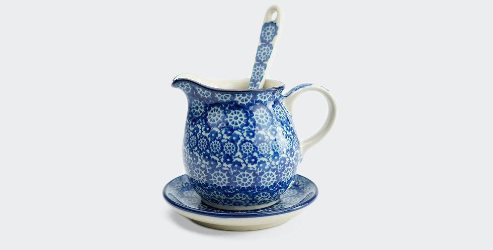Deep Blue sauce jug for the table. Handmade by Ceramika Artystyczna.