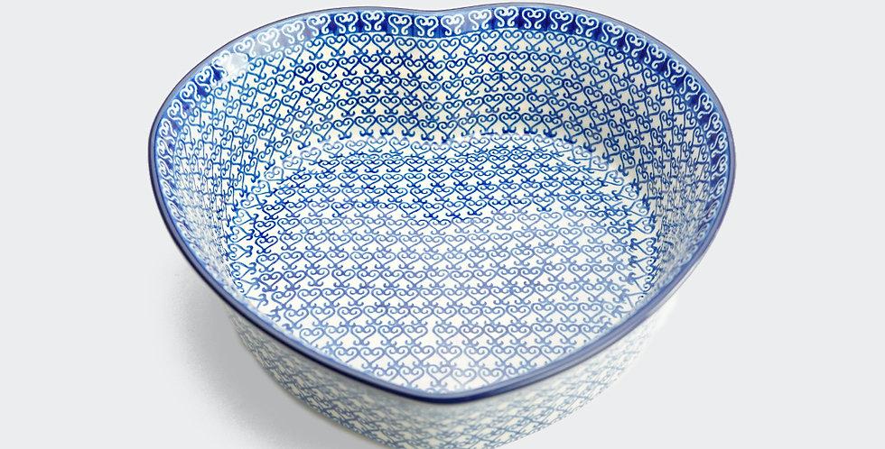 Large Heart Shaped Baking Dish in Venetian Hearts