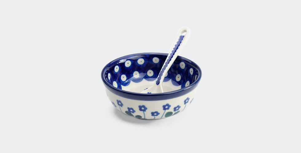 Bowl and Spoon in Daisy
