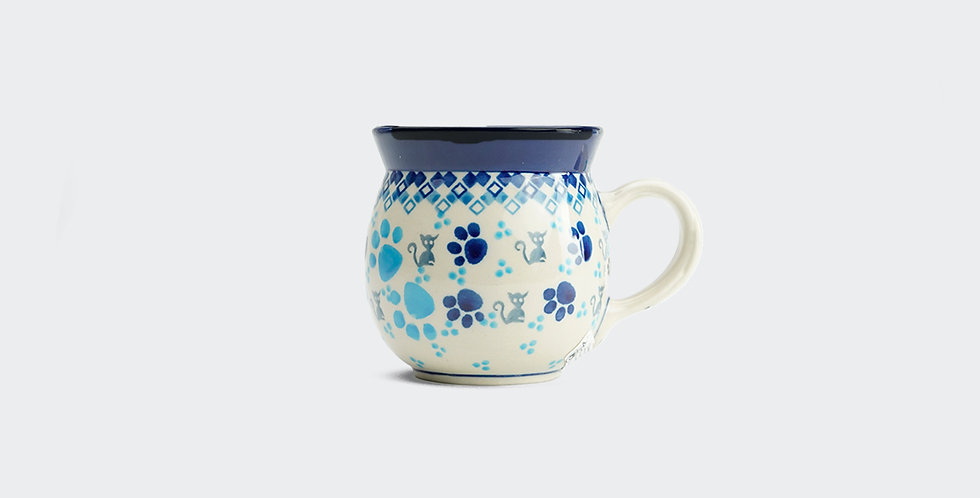 Small Woodsman Mug in Paw Prints