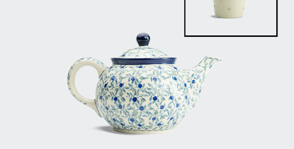 Medium Teapot with Filter in Olive Leaf