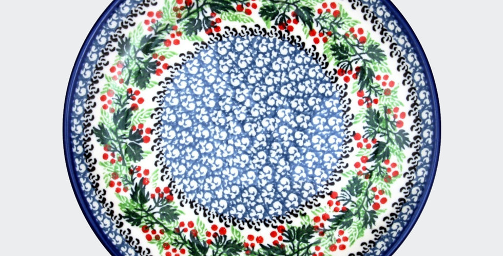 25.5cm Plate in Christmas Wreath
