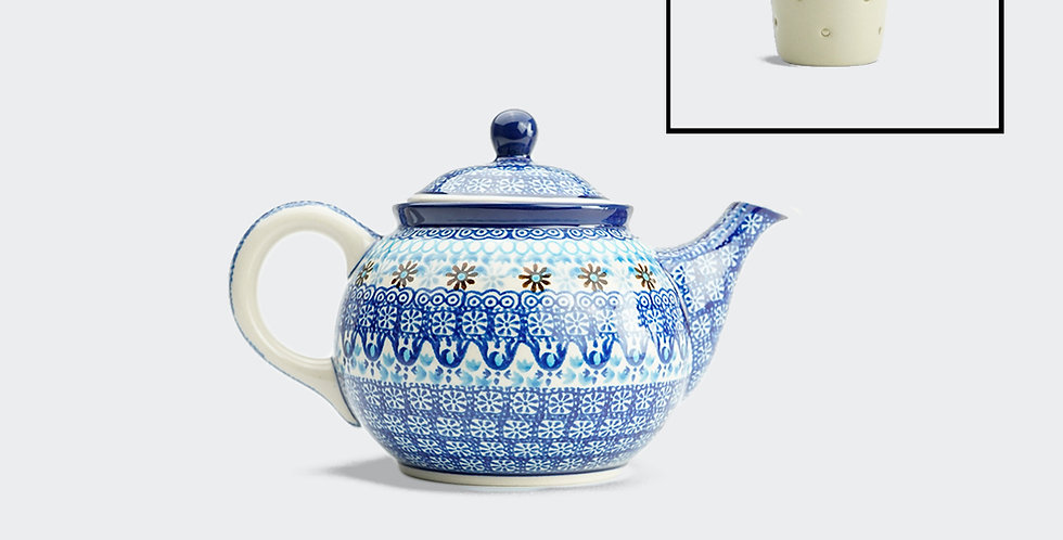 Medium Teapot in Marrakesh Blue with Filter