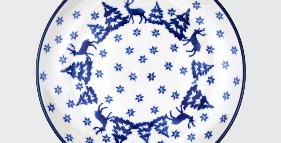 25.5cm Plate in Trees and Deer