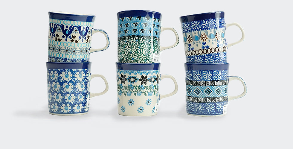 Cute set of small coffee mugs. Female Coffee lover gift. Decorative ceramics and interiors. West London. North London