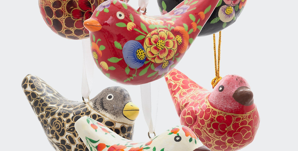 Fairtrade Bird Decorations