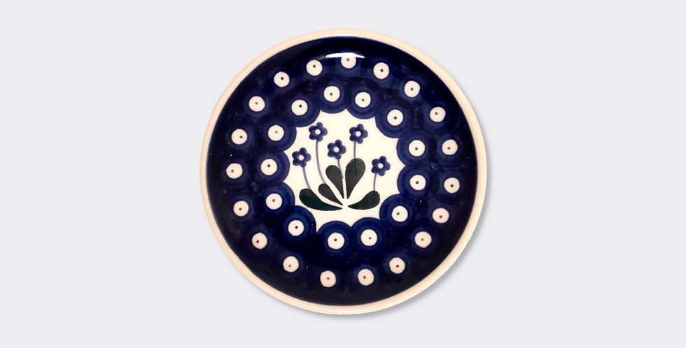 Traditional Boleslawiec Blue Spot Side Plate
