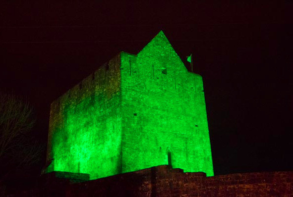 Athenry Castle on St. Patrick's Day