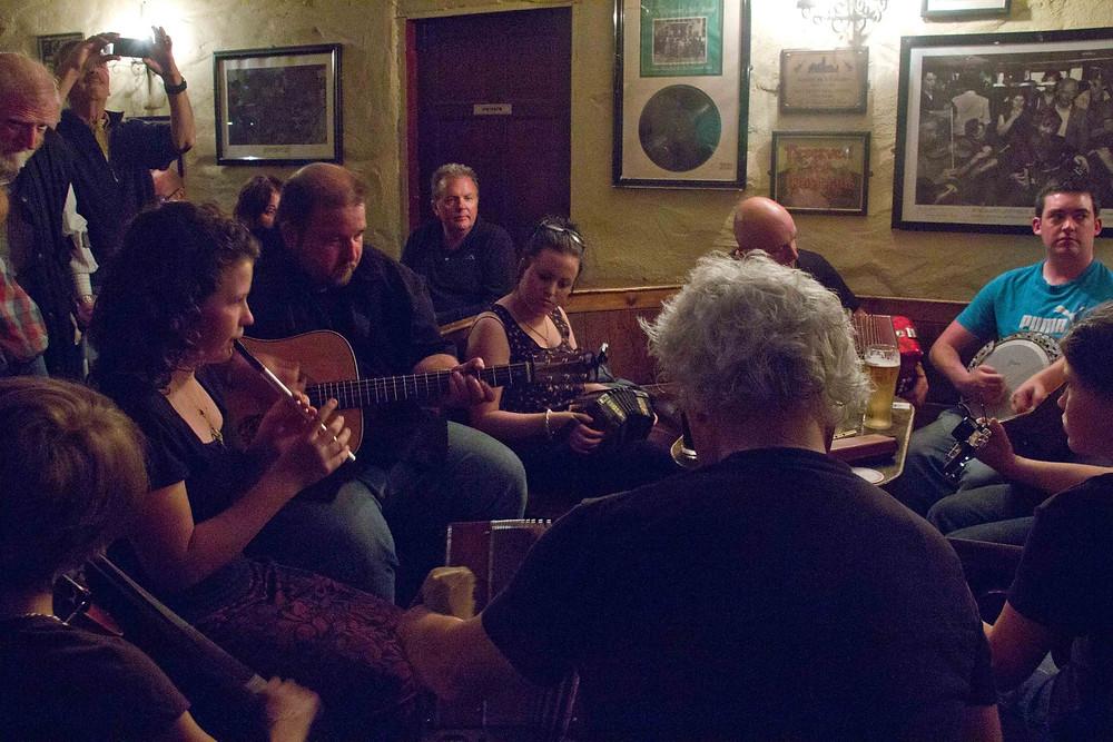 Musicians at Gus O'Connor's Pub