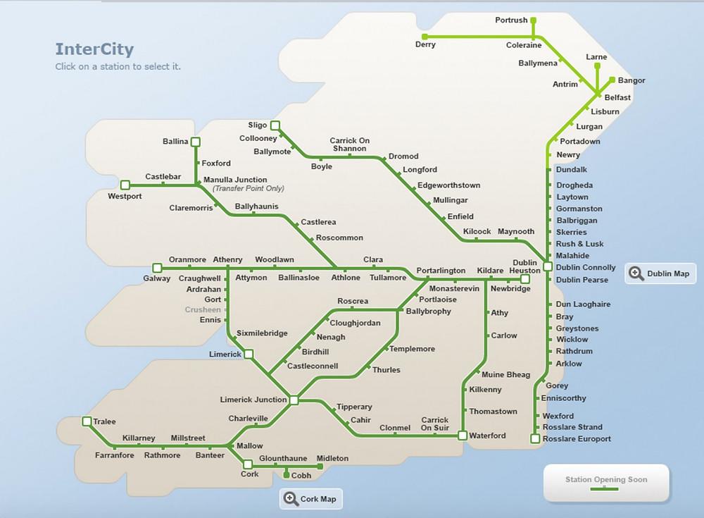 Irish Rail Map