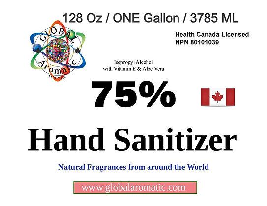 Hand Sanitizer - 128 Oz / ONE Gallon / 3785 ML