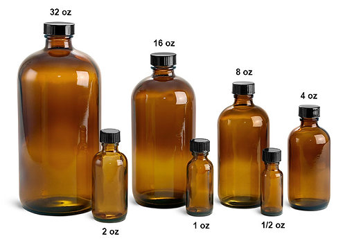 Sterilized Glass Bottles  (Various Sizes)