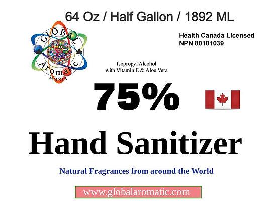 Hand Sanitizer - 64 Oz / HALF Gallon / 1892 ML