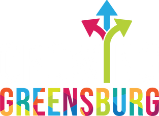 Growing Greensburg Logo - Color - White