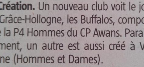 """Journal """"La Meuse"""" du 2 mai 2015"""