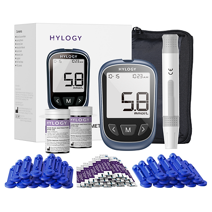[2021] Diabetes Test Kit,Blood Sugar Tester,HYLOGY Blood Glucose Monitor,Codefre
