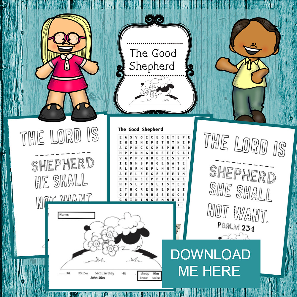 The Good Shepherd free printable for kids.