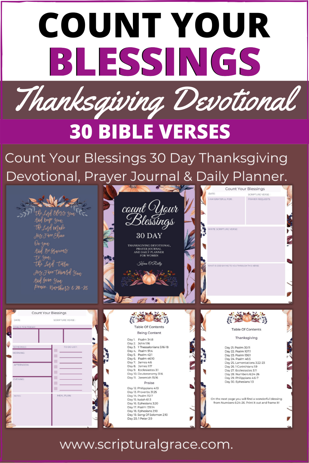 Count Your Blessings Thanksgiving Devotional And 30 Bible Verses For Thanksgiving
