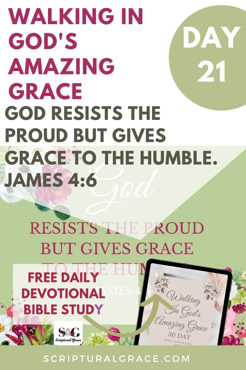 God resists the proud but gives grace to the humble James 4:6 devotional bible study with free prayer journal