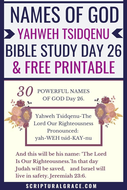 30 Names of God bible study free printable prayer journal