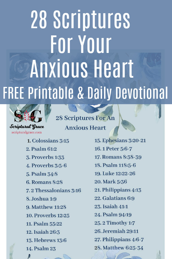 A list of 28 bible verses for your anxious heart