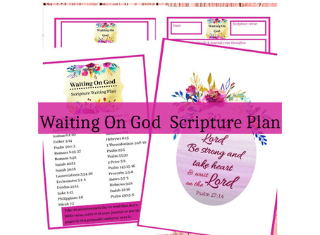 Waiting On God - 31 Days Of Bible Verses.