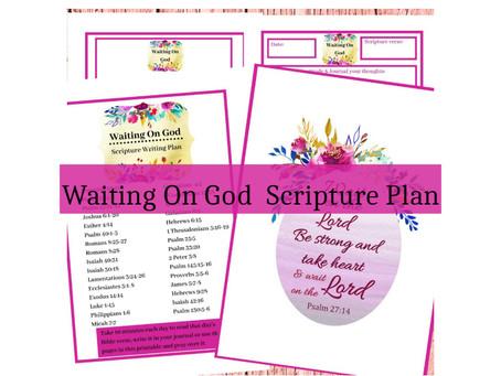 Waiting On God - 31 Days Of Bible Verses.