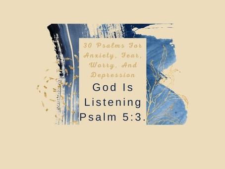 Devotional Bible Study: God Is Listening | Psalm 5:3.